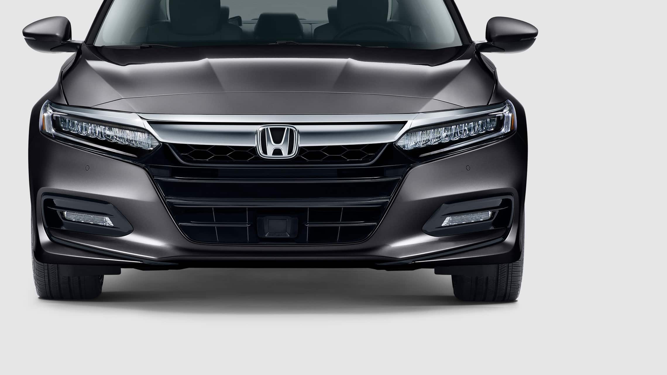 LED low-beam headlights detail on the 2020 Honda Accord Touring 2.0T in Modern Steel Metallic.